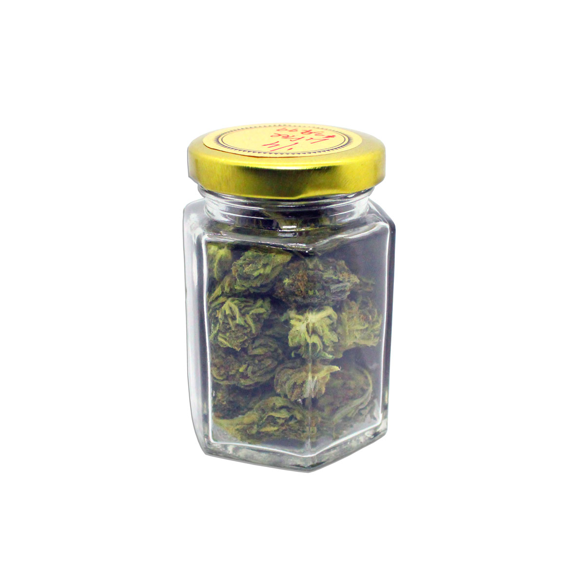 3D-medical-hemp-flower-in-glass-clear